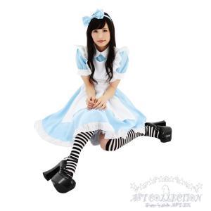 コスプレ メイド服 不思議の国のアリス風AKIBAリボンメイド/S・M・Lサイズ|yapy|04