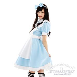 コスプレ メイド服 不思議の国のアリス風AKIBAリボンメイド/S・M・Lサイズ|yapy|05