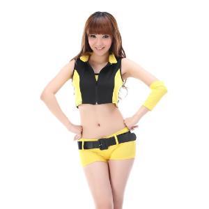 レースクイーン コスプレ衣装 8051黒×黄色のレースクイーンコスプレ|yapy