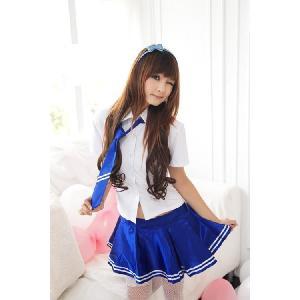 コスプレ セーラー服/ブルーのセーラー服014 yapy