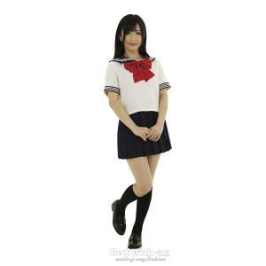 コスプレ衣装 セーラー服/セーラー服2(えんじリボン) M・Lサイズ/大きいサイズ yapy