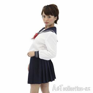 コスプレ衣装 セーラー服 AKIBA清純セーラー ホワイト 長袖 yapy