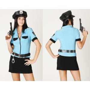 婦人警官 大きいサイズ コスプレ 衣装/レディース/ポリスウーマン・ブルーYapySUN113|yapy