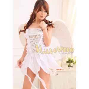 ハロウィン コスプレ 衣装/キラキラ 白い天使 エンジェル Yapy4999|yapy