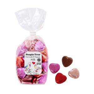 【People Tree/ピープルツリー】フェアトレードチョコ・オーガニック・ミルクチョコ ハート ピンクMix プチギフト バレンタイン ホワイトデー 義理チョコの画像