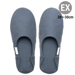 バブーシュ・帆布 EXサイズ<Extra Large/28-30cm>全7色【ABE HOME SHOES】スリッパ ルームシューズ 室内履き メンズ 綿 洗える おしゃれ かかと付き 来客用|yasac