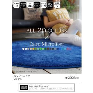ラグ 円形 200Rcm ラグマット マイクロファイバー EXマイクロラグ   洗える  おしゃれ ホットカーペット・こたつ対応 送料無料 yasashii-kurashi