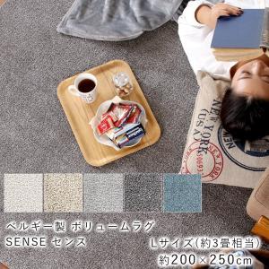 ラグマット おしゃれ 洗える 北欧 3畳 ふかふか 洗濯機可 切りっぱなし ベルギー製 DIYラグ 200×250 yasashii-kurashi