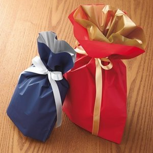 【商品と同送】ラッピングリボン(ラッピング袋のみ) 17cm(幅)×28cm(高さ)×7cm(マチ)|yasashii-kurashi