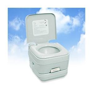 ポータブル水洗トイレ 10リットル 2層式 (ポータブルトイレ 簡易トイレ 介護用 介護用トイレ 高齢者 部屋用トイレ )|yasashisa