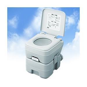 ポータブル水洗トイレ 20リットル 2層式 (ポータブルトイレ 簡易トイレ 介護用 介護用トイレ 高齢者 部屋用トイレ)|yasashisa