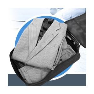 コンパクトガーメントケース ( ガーメントバック 出張 シワ コンパクト スーツ 折りたたみ JAL...