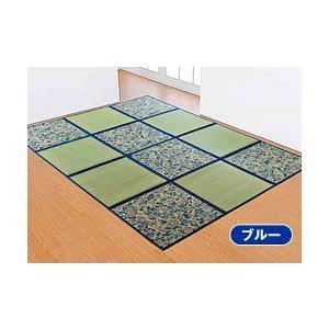 折りたたみ い草アクセントラグ 花園 266×266cm|yasashisa