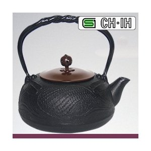 IH対応南部鉄瓶 銅蓋 とんぼ1.2L (急須 南部鉄器 南部鉄瓶) (NT1) |yasashisa