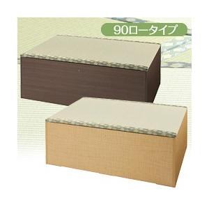 ユニット組立畳(ロータイプ)90幅 (い草 畳ユニット ユニット畳 畳ベッド 畳 収納 BOX)|yasashisa