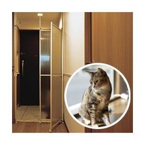 (期間限定特別価格) 猫 逃走防止パーテーション キャキャ ( CatCatch ネコ 脱走防止 玄関 脱走 防止 とびら 柵 扉 フェンス ペット ゲート 猫 即日発送 )の写真