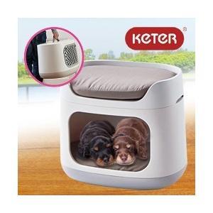 KETER バンクベッド (ペット ハウス クッション ベッド 犬 猫 ドッグハウス キャットハウス キャリーバック)|yasashisa