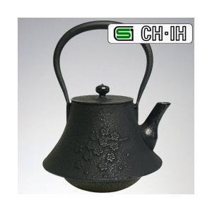 IH対応 南部鉄瓶 富士型桜 鉄蓋 1.3L (急須 南部鉄器 南部鉄瓶) (NT1) |yasashisa