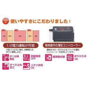 (特別価格) 電磁波カット ホットカーペット 2畳 カバー付き ( 日本製 ZENKEN ゼンケン ホットマット 電気ホットカーペット 2畳タイプ ZC-20KR 即日発送 )|yasashisa|06