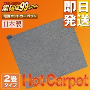 電磁波カット ホットカーペット 2畳 本体のみ ( 日本製 ZENKEN ゼンケン 電気ホットカーペット ホットマット 2畳タイプ ZCB-20KR 送料無料 即日発送 )|yasashisa