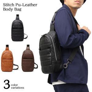 ボディバッグ ショルダーバッグ メンズ ( 肩掛けバッグ レザー PU ボディーバッグ ワンショルダーバッグ アウトドア フェス 585 )|yasashisa