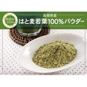 はと麦若葉 100% パウダー 無添加 粉末 120g×4個 島根県産 送料無料(はとむぎわかば はとむぎ ハトムギ クロロフィル ヨクイニン )|yaso-cha|02