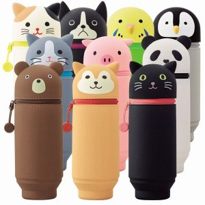 リヒト スタンドペンケース BIGサイズ A−7714 やわらかいシリコン素材の動物シリーズ yasudaclub