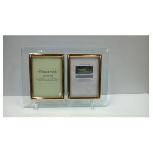 ひいらぎ クリスタルアートコレクション フォトフレーム(キャビネ版ペア 縦)CA−3000|yasudaclub