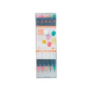 あかしや 彩 水性染料インク カラーペン 四季を書く5色セット 春 CA200/5VA|yasudaclub