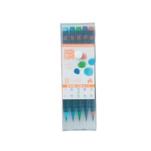 あかしや 彩 水性染料インク カラーペン 四季を書く5色セット 夏 CA200/5VB|yasudaclub