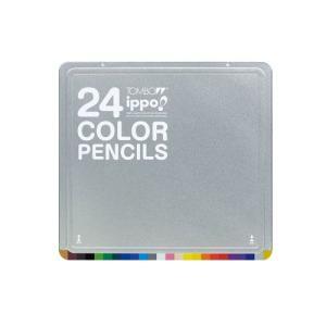 トンボ鉛筆 スライド缶入色鉛筆 24色 CL−RNAN0124C|yasudaclub