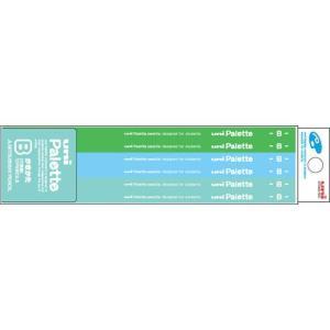 三菱鉛筆 学用鉛筆 ユニパレット かきかた 六角軸(パステルグリーン) K5562(B)/K5562(2B)|yasudaclub