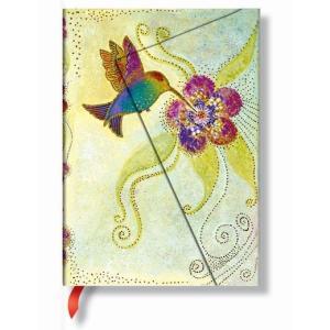 Paperblanks ペーパーブランクス ローレル・バーチコレクション 気まぐれな妖精たち ノートブック(ミディ) ハミングバード PB11422|yasudaclub