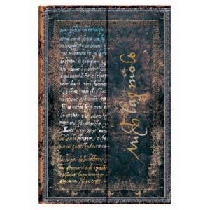 Paperblanks アーティストビジョンコレクション ミケランジェロ 「手跡」 ノートブック(ミニ) PB21759|yasudaclub