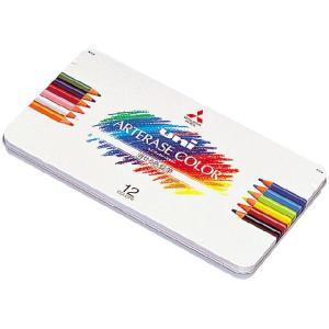 三菱鉛筆 消せる色鉛筆 uni ARTERASE COLOR(ユニ アーテレーズカラー)12C UAC12C(12色セット)|yasudaclub