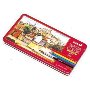三菱鉛筆 水彩色鉛筆 uni WATER COLOR(ユニ ウォーターカラー)12C UWC12C(12色セット)|yasudaclub
