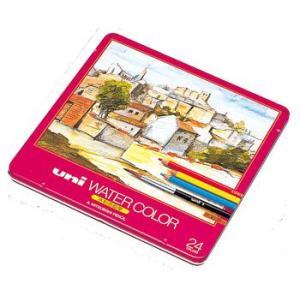 三菱鉛筆 水彩色鉛筆 uni WATER COLOR(ユニ ウォーターカラー)24C UWC24C(24色セット)|yasudaclub