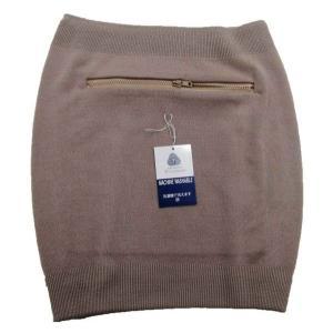 腹巻にポケットがついた腹巻  毛100%(ウールマーク付き)  ■ ファスナー付きのポケットが付き(...