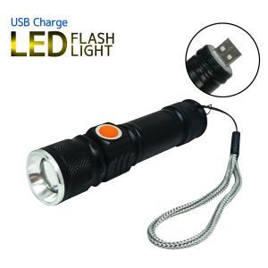 USB充電式 LED懐中電灯 ダイレクト型 LEDライト 懐中電灯 フラッシュライト 軽量 小型 防水 耐衝撃 耐振動 防災|yasuizemart