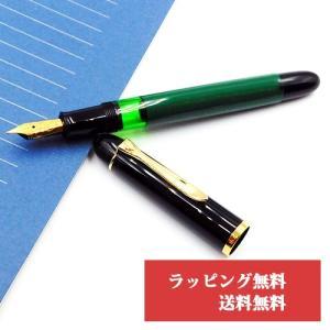 ペリカン 万年筆 特別生産品 Pelikan M120 グリーンブラック ギフト フリーメッセージカード無料|yasukaunet