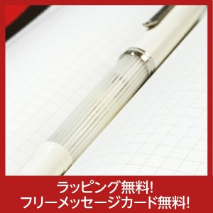 ペリカン 万年筆  特別生産品 Pelikan スーベレーンM605 ホワイトストライプ White Stripe 限定品 フリーメッセージカード無料|yasukaunet