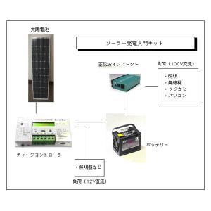 ソーラー発電入門キット(90W)・正弦波インバーター付き|yasukawa