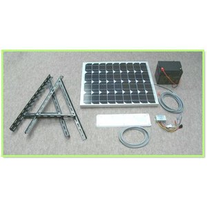 ソーラーLED照明キット45W:ベランダ太陽光発電・家庭用蓄電池|yasukawa