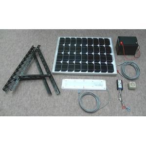 ソーラーLED照明キット45W:ベランダ太陽光発電・家庭用蓄電池 (手動点灯式)|yasukawa