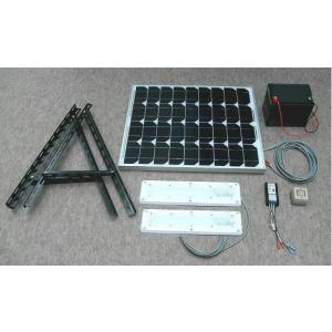 ソーラーLED照明キット45W:LED-2個・ベランダ太陽光発電・家庭用蓄電池(手動点灯式)|yasukawa