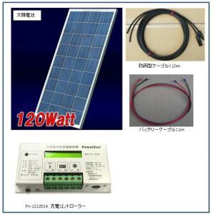 ソーラー発電-120W・バッテリー充電セット・ベランダ太陽光発電(バッテリーなし) yasukawa