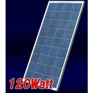 120W-12V 太陽電池 (ソーラーパネル):ベランダ太陽光発電・家庭用蓄電池充電|yasukawa
