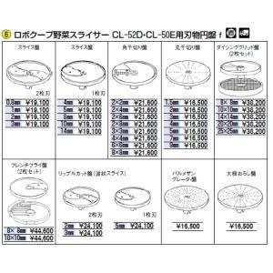 ロボクープ 野菜スライサー CL-52D・CL-50E用刃物円盤 大根おろし盤  野菜スライサー フ...