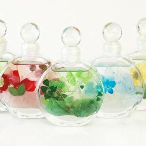 ハーバリウム バラ 香り付き 天然石 花 ガラス 全7種