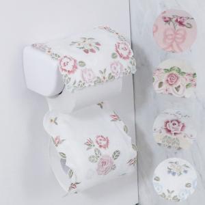 ペーパーホルダーカバー 可愛い 刺繍 送料無料 花柄 薔薇雑貨 トイレ用品 選べる5種